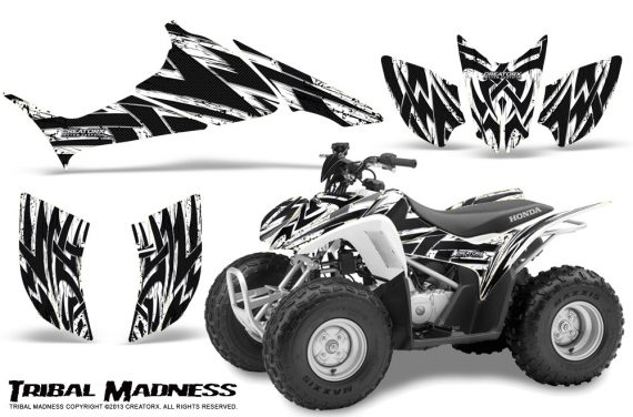 Honda TRX90 CreatorX Graphics Kit Tribal Madness White 570x376 - Honda TRX 90 2006-2020 Graphics
