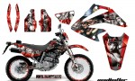 Honda XR 250 SM AMR Graphic Kit MH Silver Redbg 150x90 - Honda XR250 SM Super Moto 2003-2005 Graphics