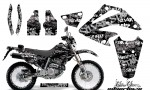 Honda XR 250 SM AMR Graphic Kit silver star white blackbg 150x90 - Honda XR250 SM Super Moto 2003-2005 Graphics