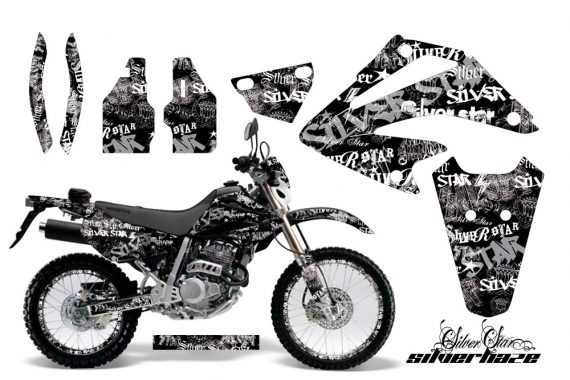 Honda XR 250 SM AMR Graphic Kit silver star white blackbg 570x380 - Honda XR250 SM Super Moto 2003-2005 Graphics