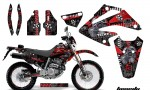Honda XR 250 SM AMR Graphic Kit toxicity red blkbg 150x90 - Honda XR250 SM Super Moto 2003-2005 Graphics