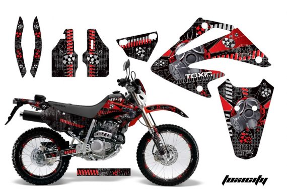 Honda XR 250 SM AMR Graphic Kit toxicity red blkbg 570x380 - Honda XR250 SM Super Moto 2003-2005 Graphics