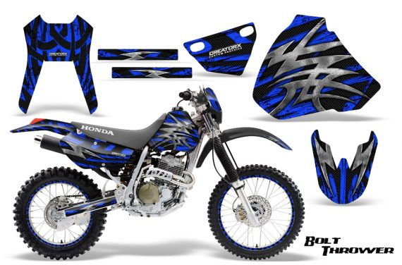 Honda XR 400 CreatorX Graphics Kit Bolt Thrower Blue NP Rims 570x376 - Honda XR400 1996-2004 Graphics