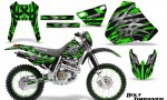 Honda XR 400 CreatorX Graphics Kit Bolt Thrower Green NP Rims 150x90 - Honda XR400 1996-2004 Graphics