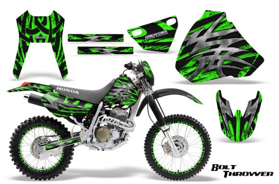 Honda XR 400 CreatorX Graphics Kit Bolt Thrower Green NP Rims 570x376 - Honda XR400 1996-2004 Graphics