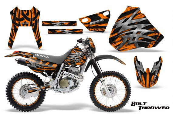 Honda XR 400 CreatorX Graphics Kit Bolt Thrower Orange NP Rims 570x376 - Honda XR400 1996-2004 Graphics