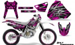Honda XR 400 CreatorX Graphics Kit Bolt Thrower Pink NP Rims 150x90 - Honda XR400 1996-2004 Graphics