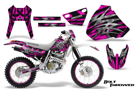 Honda XR 400 CreatorX Graphics Kit Bolt Thrower Pink NP Rims 570x376 - Honda XR400 1996-2004 Graphics