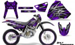 Honda XR 400 CreatorX Graphics Kit Bolt Thrower Purple NP Rims 150x90 - Honda XR400 1996-2004 Graphics