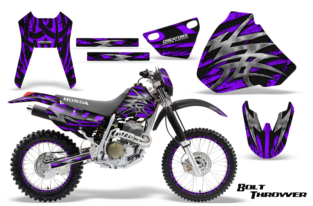 Honda xr 400 creatorx graphics kit bolt thrower purple np rims