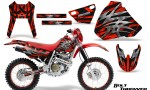 Honda XR 400 CreatorX Graphics Kit Bolt Thrower Red NP Rims 150x90 - Honda XR400 1996-2004 Graphics