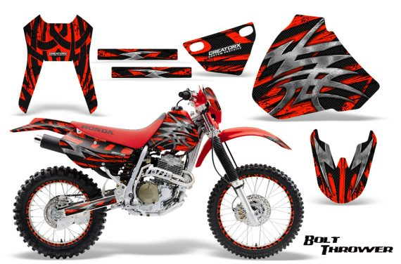 Honda XR 400 CreatorX Graphics Kit Bolt Thrower Red NP Rims 570x376 - Honda XR400 1996-2004 Graphics