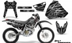 Honda XR 400 CreatorX Graphics Kit Bolt Thrower Silver NP Rims 150x90 - Honda XR400 1996-2004 Graphics