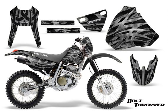 Honda XR 400 CreatorX Graphics Kit Bolt Thrower Silver NP Rims 570x376 - Honda XR400 1996-2004 Graphics