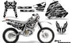 Honda XR 400 CreatorX Graphics Kit Bolt Thrower White NP Rims 150x90 - Honda XR400 1996-2004 Graphics