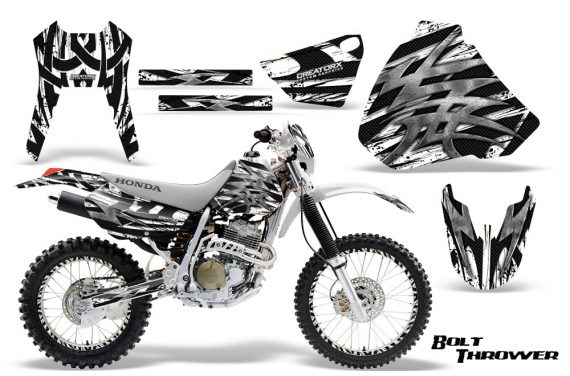 Honda XR 400 CreatorX Graphics Kit Bolt Thrower White NP Rims 570x376 - Honda XR400 1996-2004 Graphics