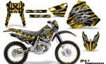 Honda XR 400 CreatorX Graphics Kit Bolt Thrower Yellow NP Rims 150x90 - Honda XR400 1996-2004 Graphics