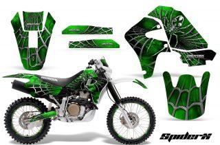 Honda XR650 CreatorX Graphics Kit SpiderX Green NP Rims 320x211 - Honda XR650R 2000-2010 Graphics