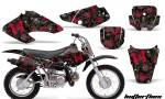 Honda XR70 AMR Graphics Kit BF RB 150x90 - Honda XR50 2000-2003 XR70 2001-2003 Graphics