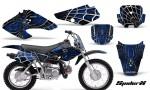 Honda XR70 CreatorX Graphics Kit SpiderX Blue Black 150x90 - Honda XR50 2000-2003 XR70 2001-2003 Graphics