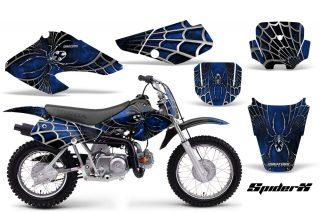 Honda XR70 CreatorX Graphics Kit SpiderX Blue Black 320x213 - Honda XR50 2000-2003 XR70 2001-2003 Graphics