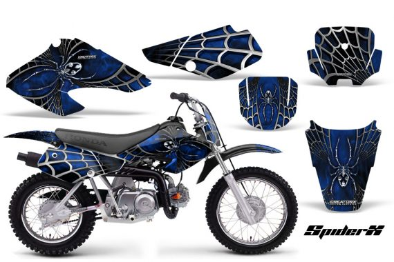 Honda XR70 CreatorX Graphics Kit SpiderX Blue Black 570x380 - Honda XR50 2000-2003 XR70 2001-2003 Graphics
