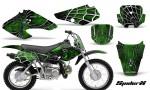 Honda XR70 CreatorX Graphics Kit SpiderX Green Black 150x90 - Honda XR50 2000-2003 XR70 2001-2003 Graphics
