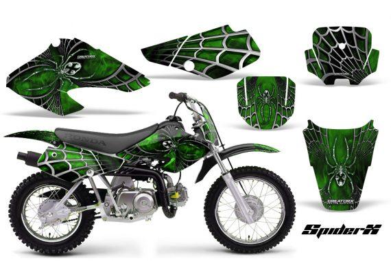 Honda XR70 CreatorX Graphics Kit SpiderX Green Black 570x380 - Honda XR50 2000-2003 XR70 2001-2003 Graphics
