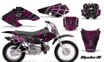 Honda XR70 CreatorX Graphics Kit SpiderX Pink Black 150x90 - Honda XR50 2000-2003 XR70 2001-2003 Graphics