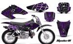 Honda XR70 CreatorX Graphics Kit SpiderX Purple Black 150x90 - Honda XR50 2000-2003 XR70 2001-2003 Graphics