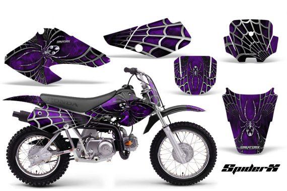 Honda XR70 CreatorX Graphics Kit SpiderX Purple Black 570x380 - Honda XR50 2000-2003 XR70 2001-2003 Graphics
