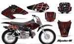 Honda XR70 CreatorX Graphics Kit SpiderX Red Black 150x90 - Honda XR50 2000-2003 XR70 2001-2003 Graphics