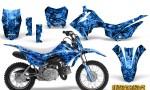 Honda CRF110F CreatorX Graphics Kit Inferno Blue 150x90 - Honda CRF 110F 2013-2018 Graphics