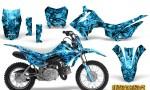 Honda CRF110F CreatorX Graphics Kit Inferno BlueIce 150x90 - Honda CRF 110F 2013-2018 Graphics