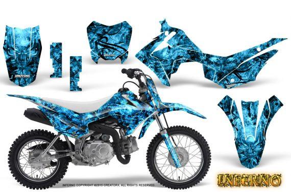 Honda CRF110F CreatorX Graphics Kit Inferno BlueIce 570x376 - Honda CRF 110F 2013-2018 Graphics