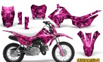 Honda CRF110F CreatorX Graphics Kit Inferno Pink 150x90 - Honda CRF 110F 2013-2018 Graphics