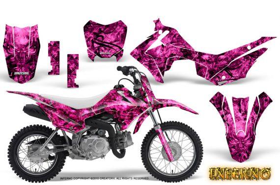 Honda CRF110F CreatorX Graphics Kit Inferno Pink 570x376 - Honda CRF 110F 2013-2018 Graphics