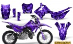 Honda CRF110F CreatorX Graphics Kit Inferno Purple 150x90 - Honda CRF 110F 2013-2018 Graphics