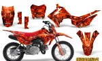 Honda CRF110F CreatorX Graphics Kit Inferno Red 150x90 - Honda CRF 110F 2013-2018 Graphics