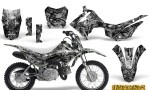 Honda CRF110F CreatorX Graphics Kit Inferno Silver 150x90 - Honda CRF 110F 2013-2018 Graphics