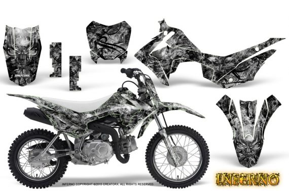 Honda CRF110F CreatorX Graphics Kit Inferno Silver 570x376 - Honda CRF 110F 2013-2018 Graphics
