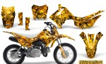 Honda CRF110F CreatorX Graphics Kit Inferno Yellow 150x90 - Honda CRF 110F 2013-2018 Graphics