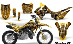 Honda CRF110F CreatorX Graphics Kit SpiderX Yellow 150x90 - Honda CRF 110F 2013-2018 Graphics