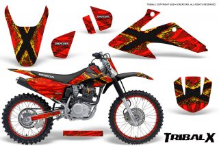 Honda CRF150 CRF230 08 10 Graphics Kit TribalX Yellow Red NP Rims 320x213 - Can-Am Maverick X3 TribalX Custom Version Graphics
