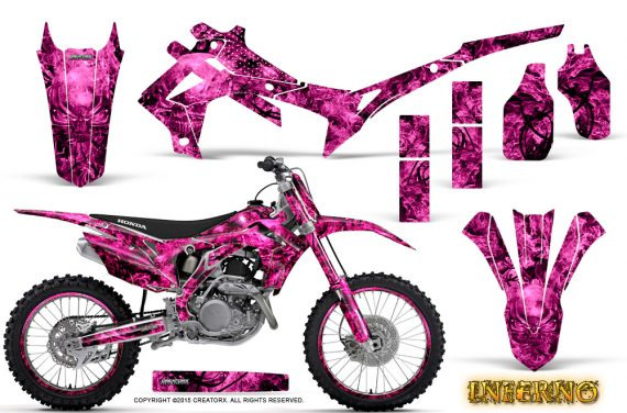 Honda CRF450R 2013 2014 Graphics Kit Inferno Pink NP Rims 570x376 - Honda CRF450R 2013-2015 Graphics