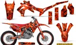 Honda CRF450R 2013 2014 Graphics Kit Inferno Red NP Rims 150x90 - Honda CRF450R 2013-2015 Graphics