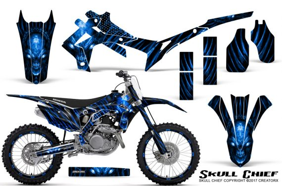 Honda CRF450R 2013 2014 Graphics Kit Skull Chief Blue NP Rims 570x376 - Honda CRF450R 2013-2015 Graphics