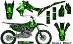 Honda CRF450R 2013 2014 Graphics Kit Skull Chief Green NP Rims 150x90 - Honda CRF450R 2013-2015 Graphics