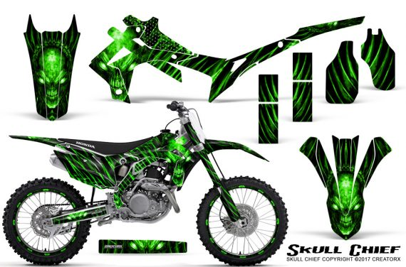 Honda CRF450R 2013 2014 Graphics Kit Skull Chief Green NP Rims 570x376 - Honda CRF450R 2013-2016 Graphics
