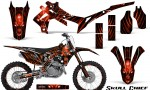 Honda CRF450R 2013 2014 Graphics Kit Skull Chief Red NP Rims 150x90 - Honda CRF450R 2013-2015 Graphics